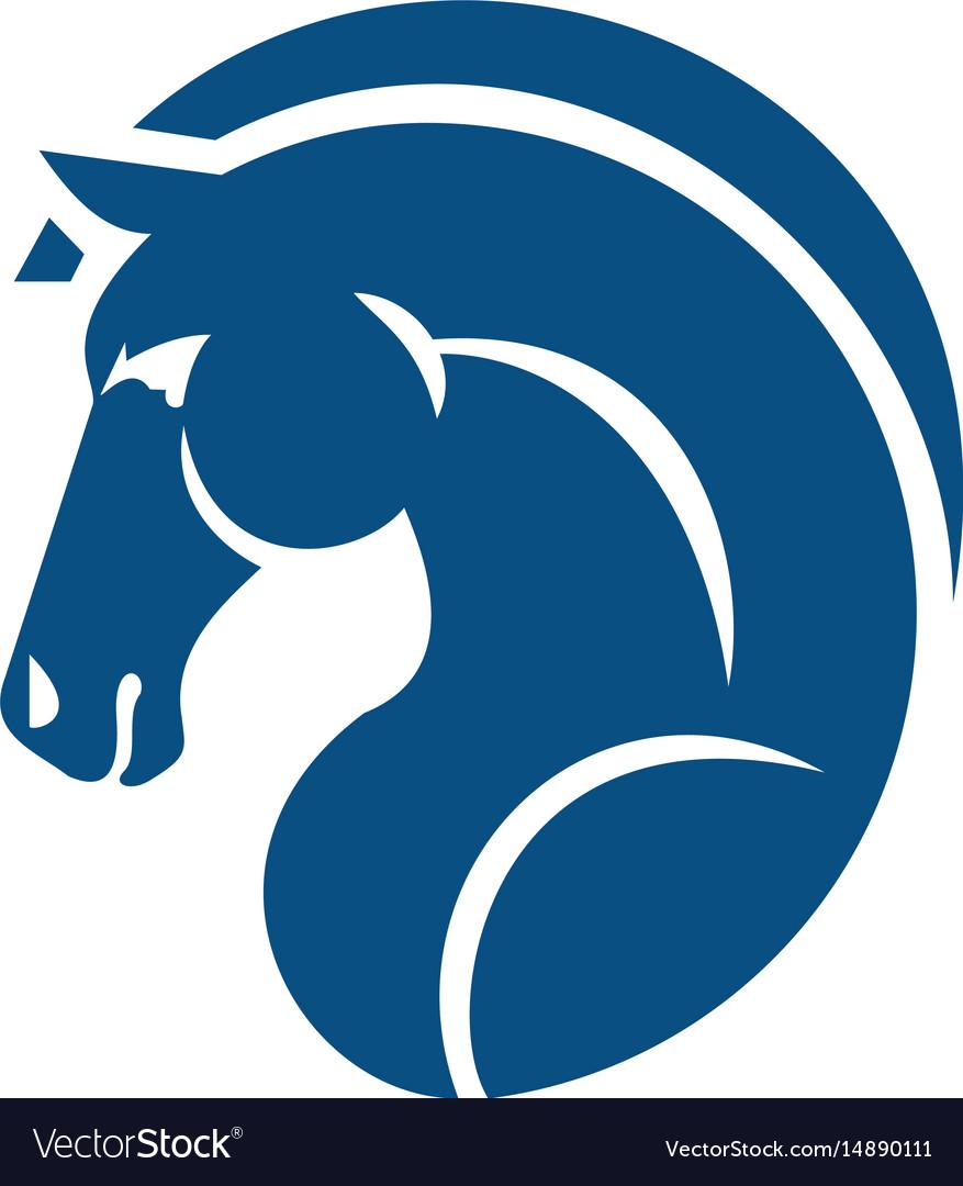 horse head logo design royalty free vector image rh vectorstock com horse head logo on italian leather bag horse head logos for trailers