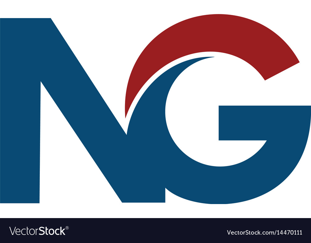 ng n g business letter logo design vector image