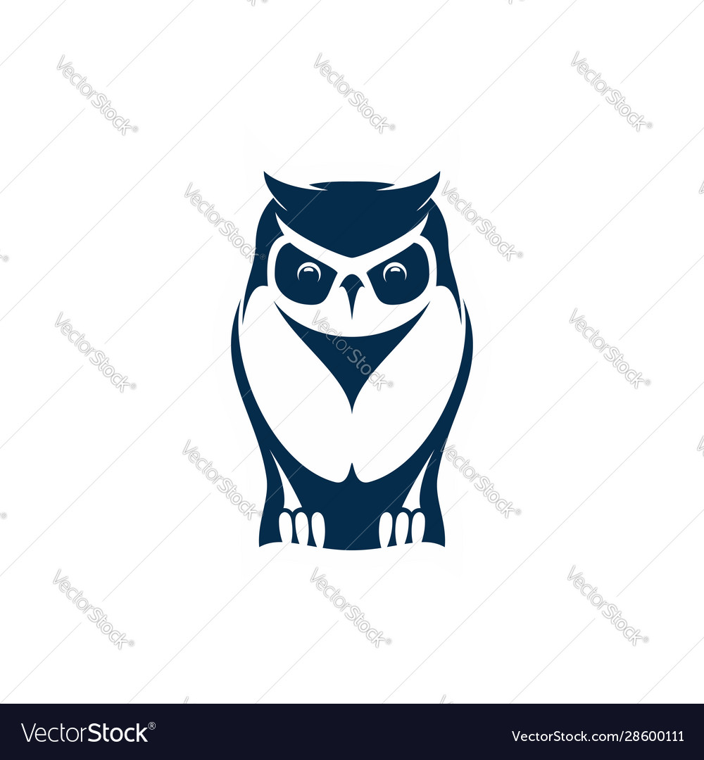 Owl wise bird isolated feathered animal mascot
