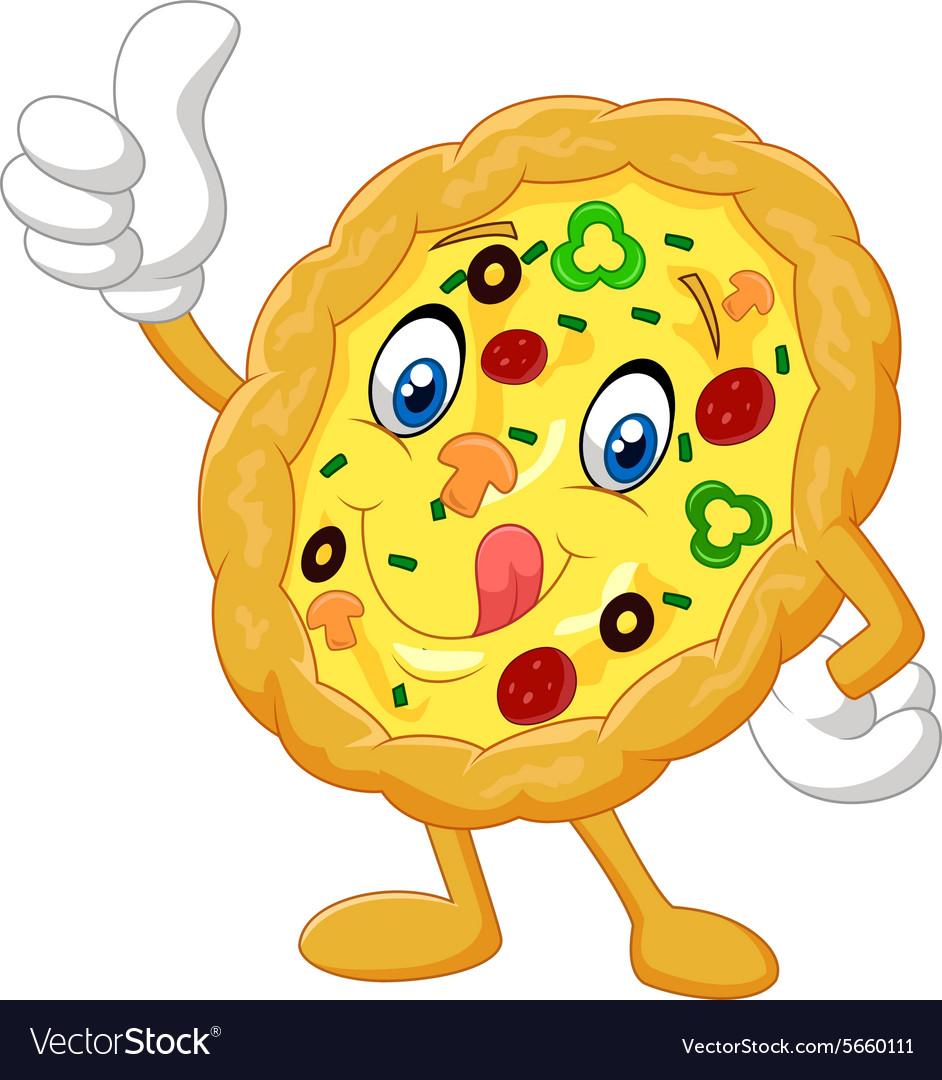 Pizza give thumb up vector image