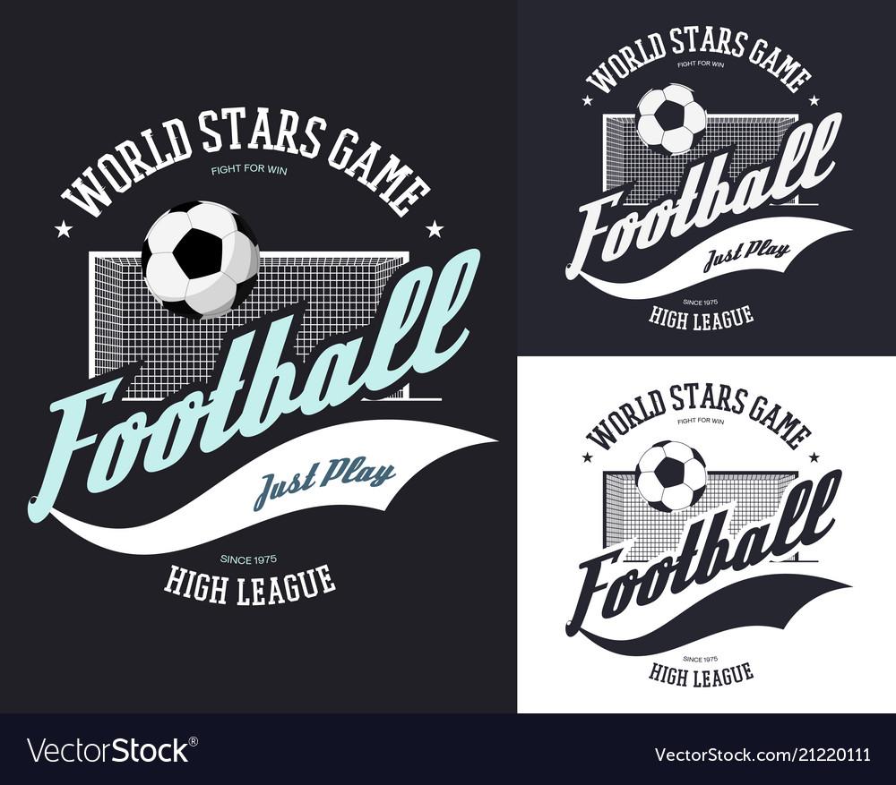 Soccer or european football sign for t-shirt