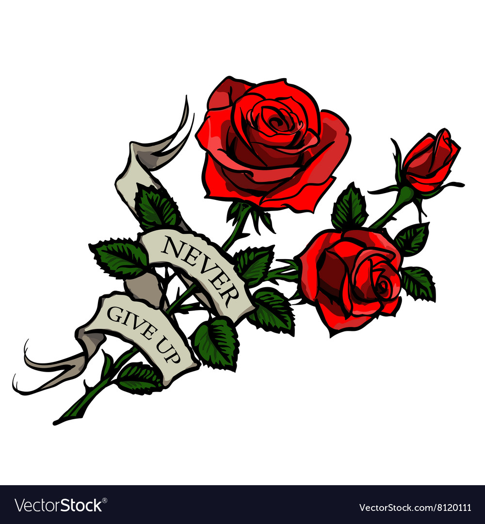 Tattoo red roses Royalty Free Vector Image - VectorStock