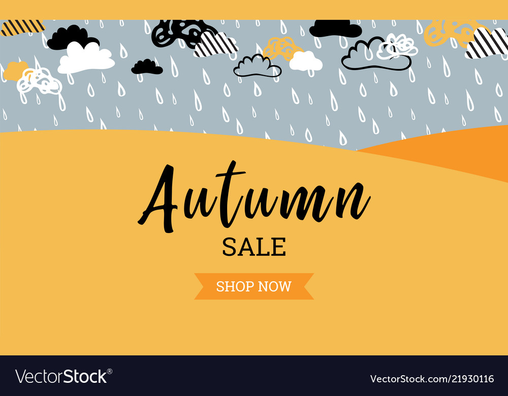 Autumn sale background banner for shopping sale or