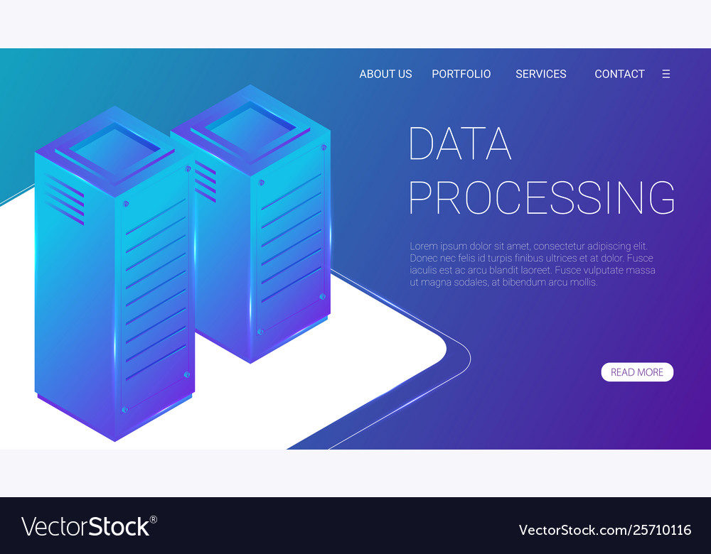 Concept big data processing energy station of