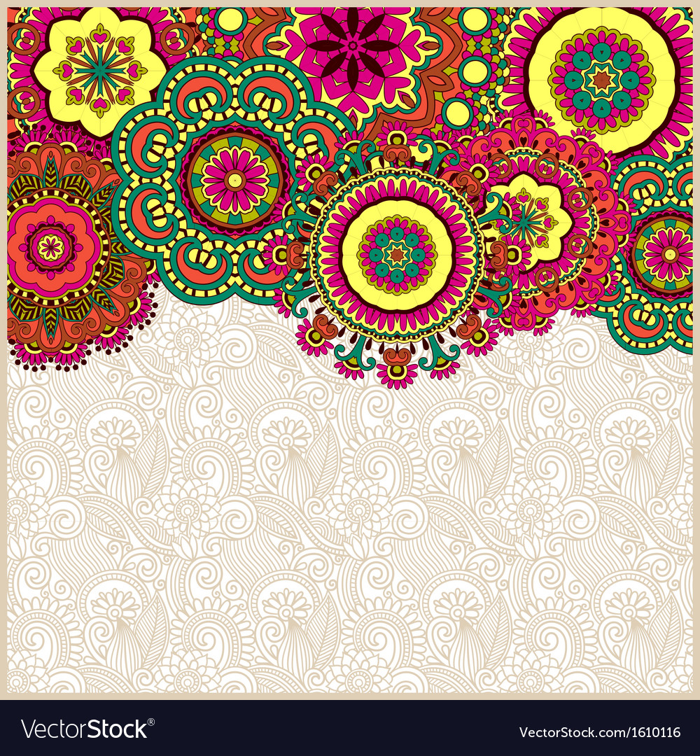 Floral background with circle flower design vector image - Floral background ...