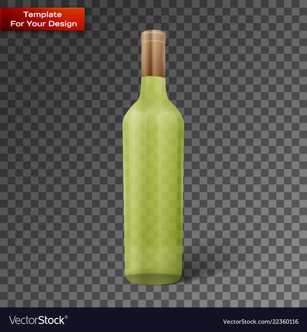 Glass color wine bottle