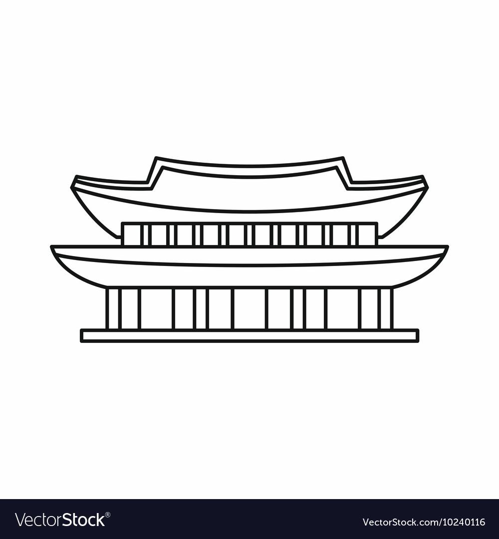 Gyeongbokgung palace Seoul icon outline style Vector Image on magic kingdom outline, girl outline, village outline, people outline, hospital outline, aqueduct outline, church outline, shop outline, stone outline, zoo outline, apartment outline, coliseum outline, forbidden city outline, bridge outline, beach outline, art outline, pagoda outline, history outline, car outline, temple outline,
