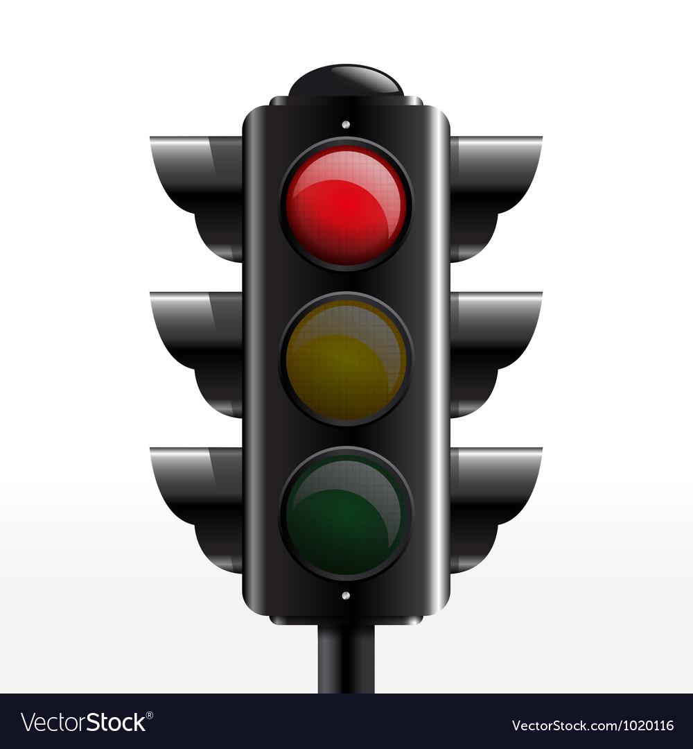 traffic light red royalty free vector image - vectorstock  vectorstock