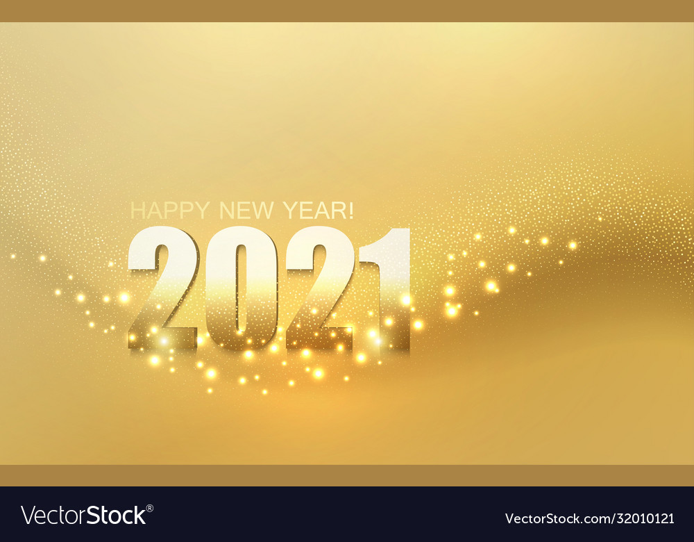 2021 new year abstract shiny color gold light vector image vectorstock