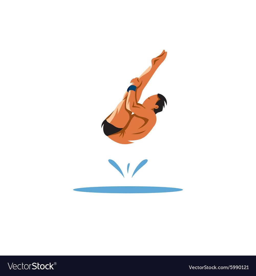 прыжки в воду картинки эмблема покажу вам примере