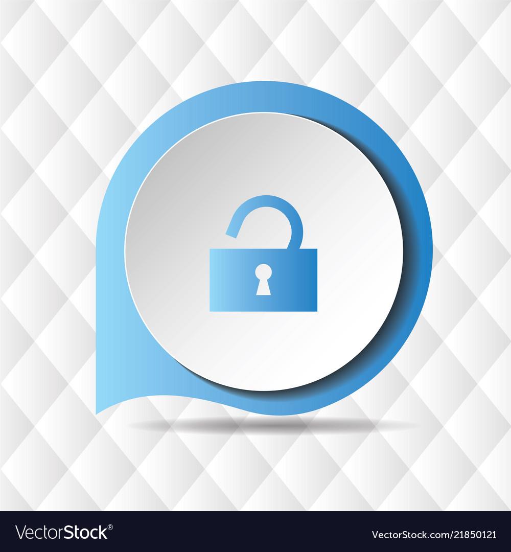 Blue unlock icon geometric background image