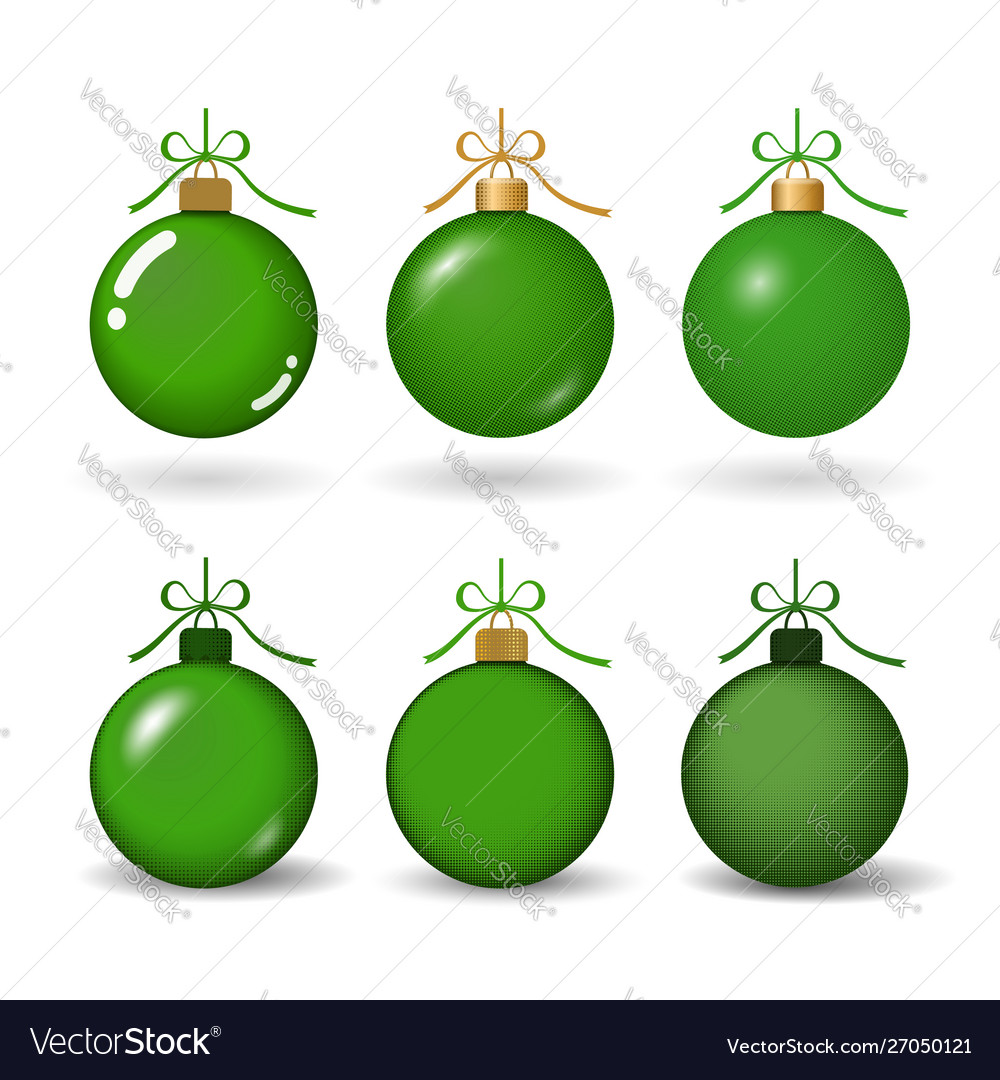 Christmas tree ball with ribbon bow green bauble