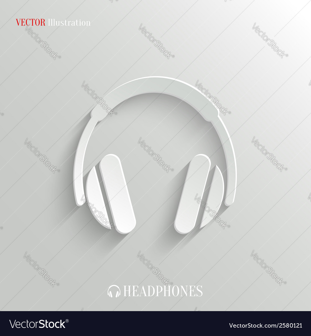 Headphones icon - white app button