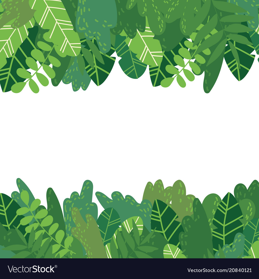 Leaves background horizontal vector image