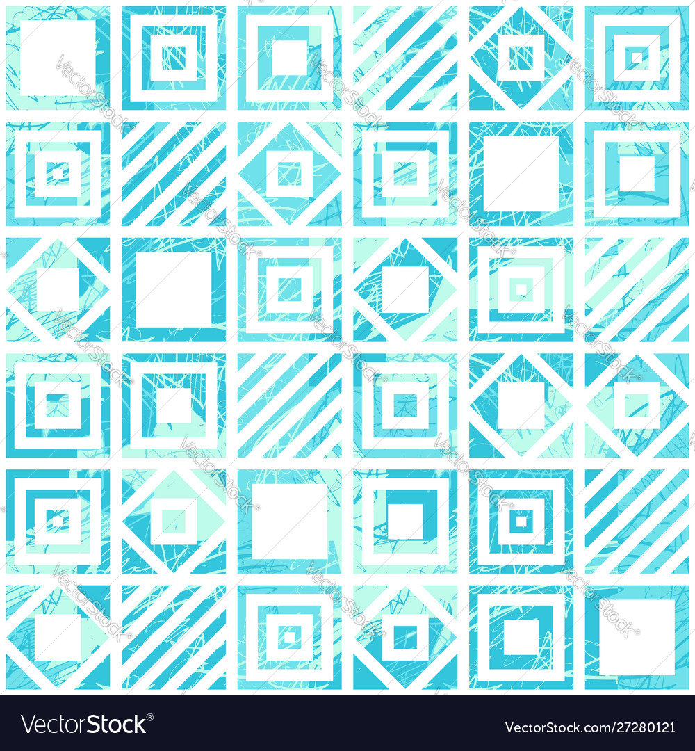 Seamless geometric scratched pattern in turquoise