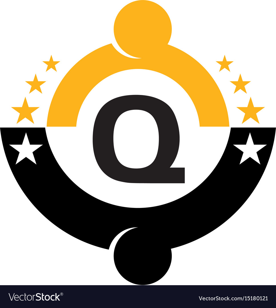 Success life coaching initial q vector image
