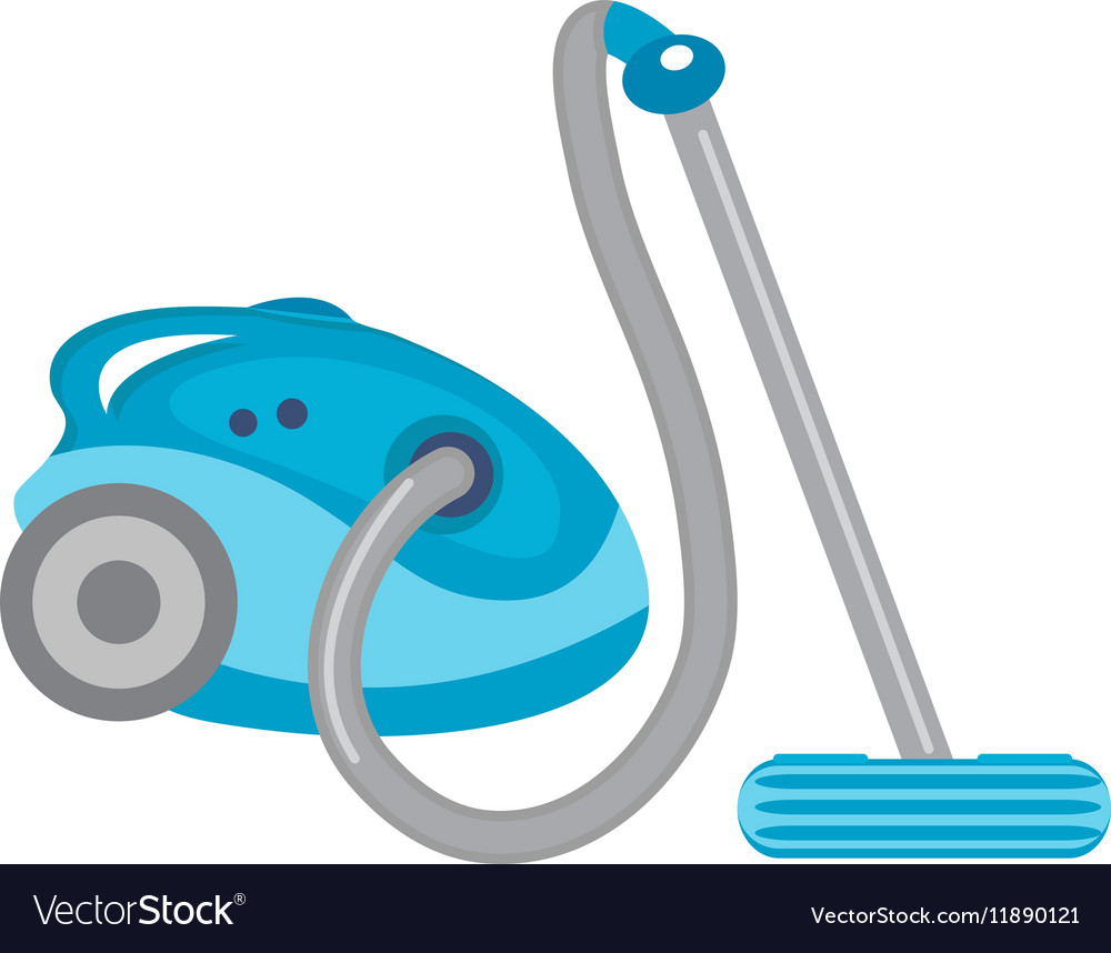 Vacuum cleaner icon flat style isolated on