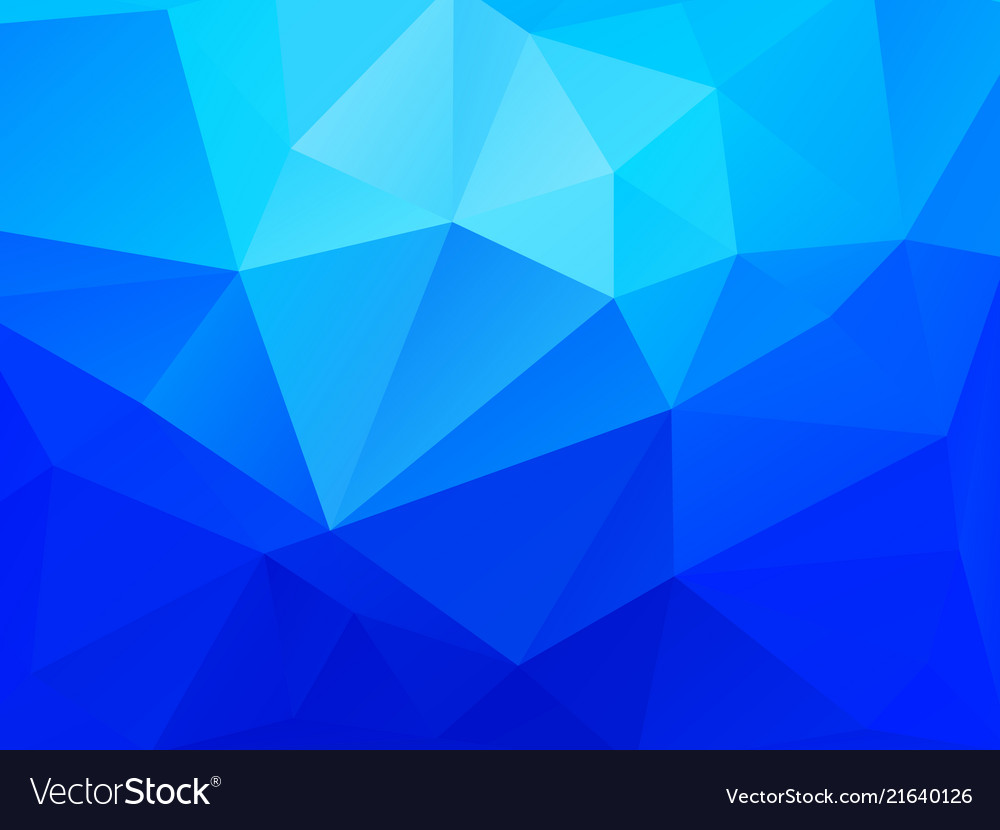 Abstract blue polygonal crystal pattern