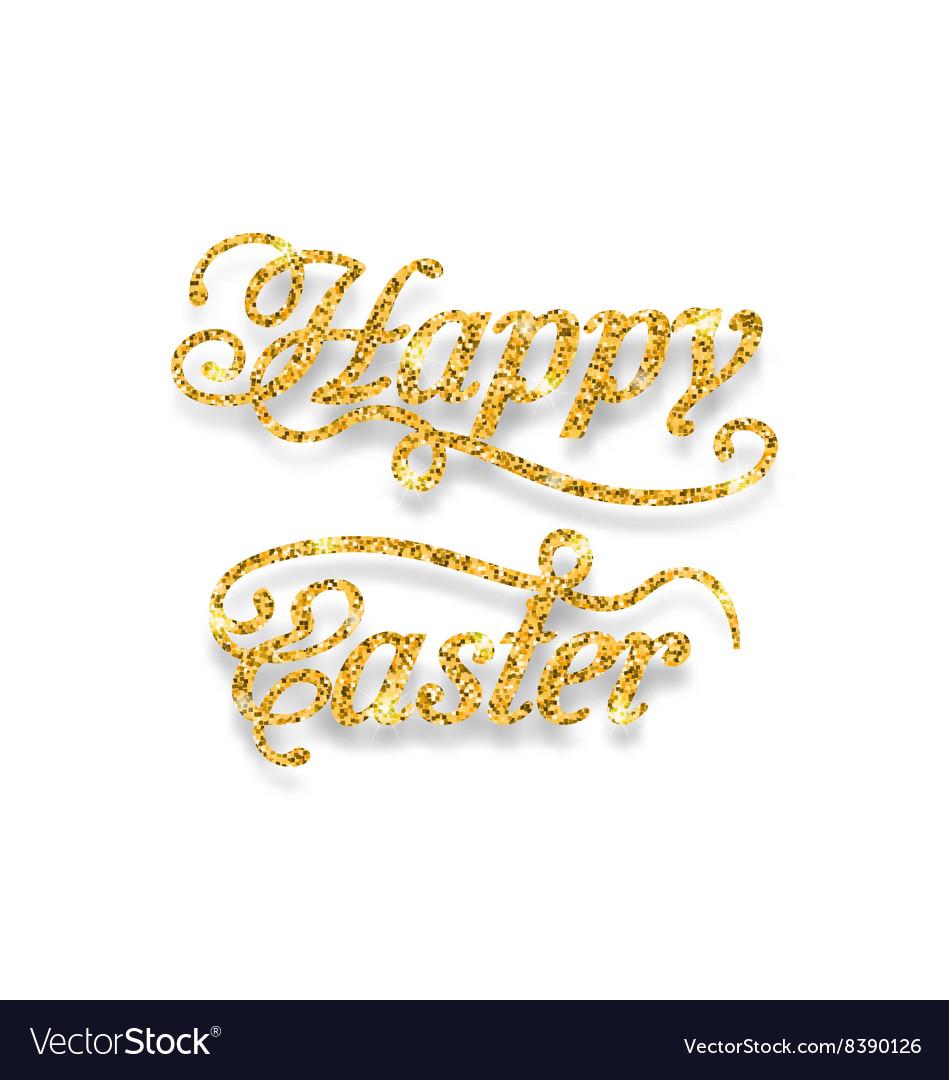 Abstract Golden Hand Written Easter Phrase
