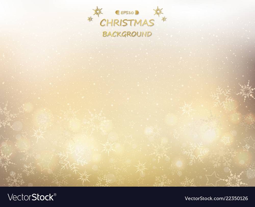 Abstract of golden christmas background with