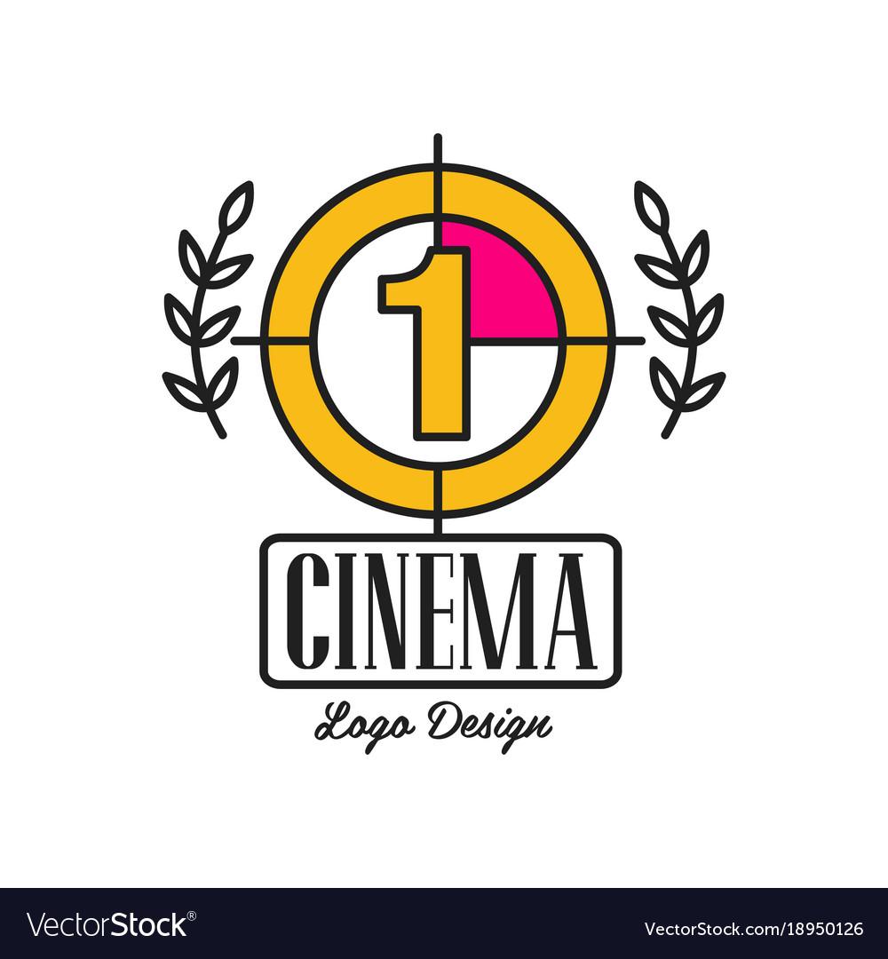 Cinema or movie logo template creative design with