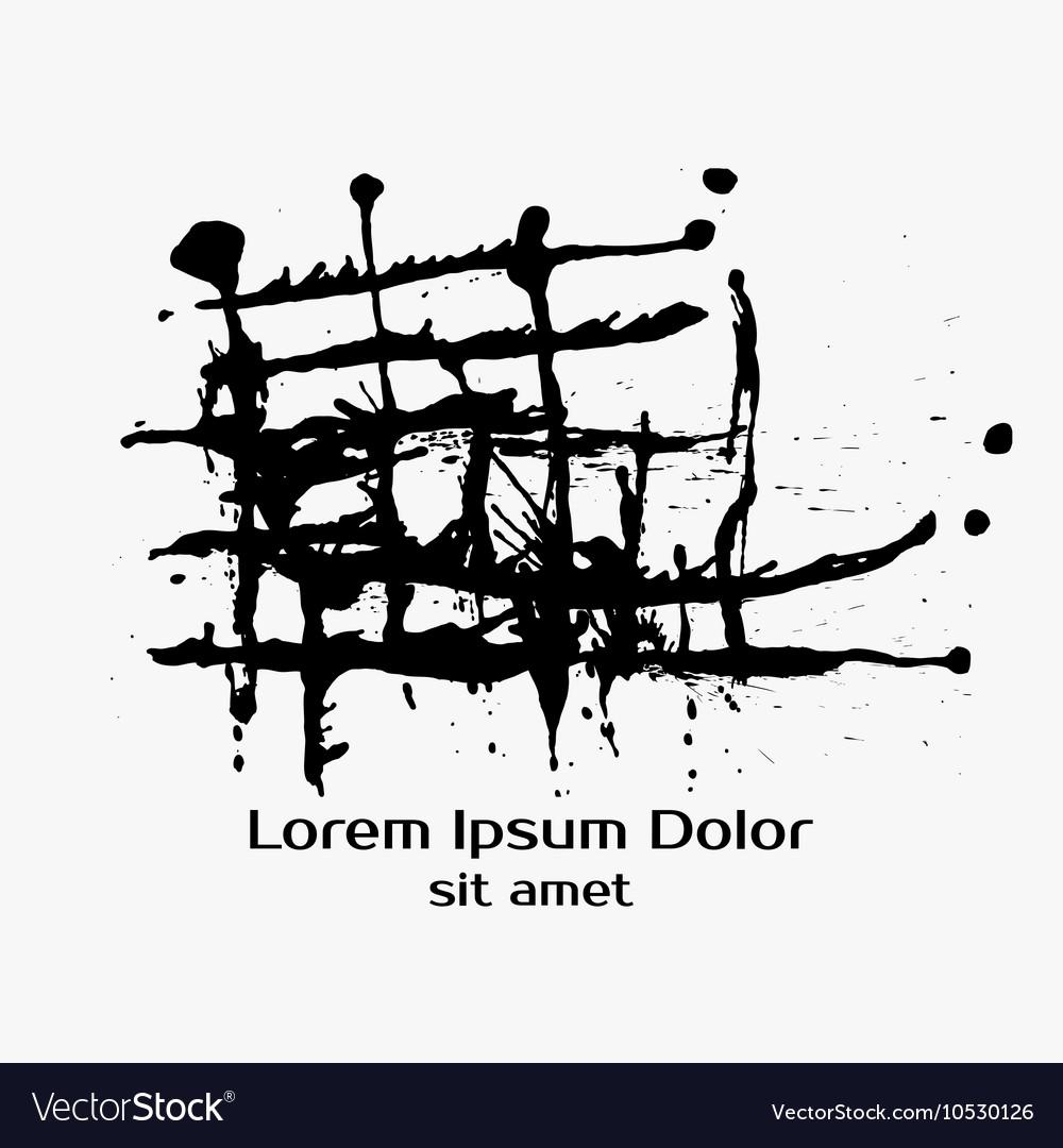 Construction Splatter Black Ink Background vector image