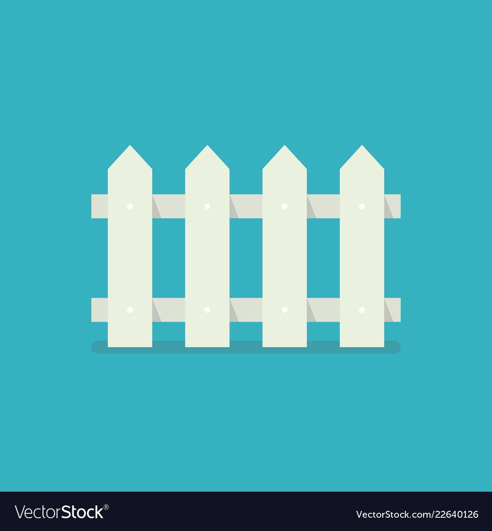 Fence icon in flat style