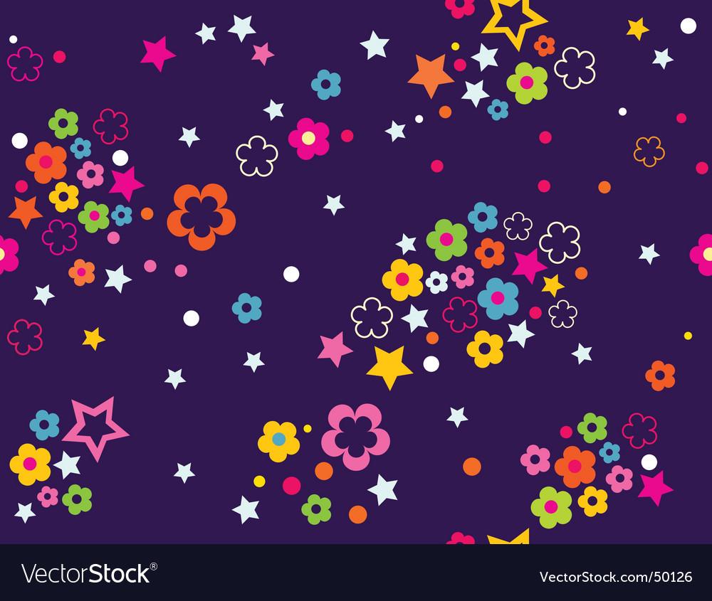 Floral celestial sky