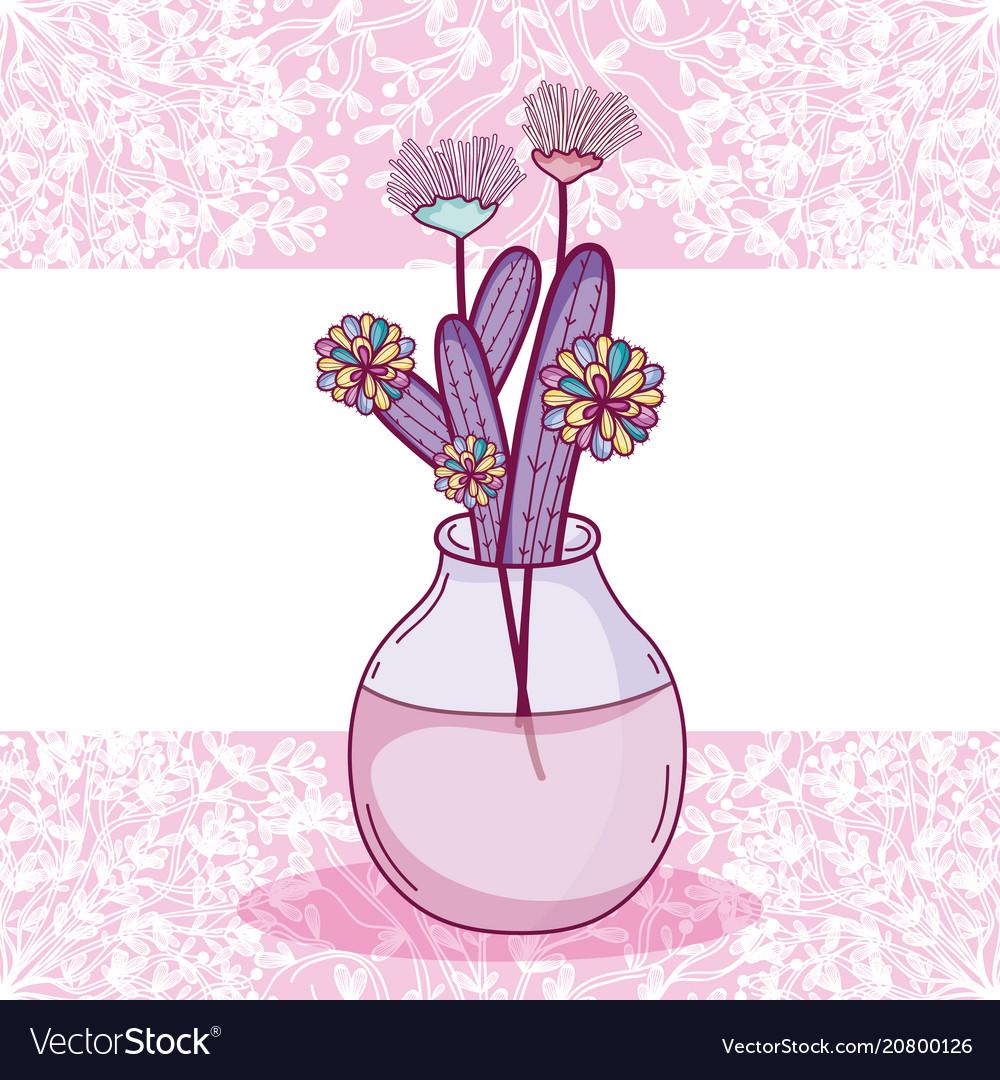 Flowers in glass jar card