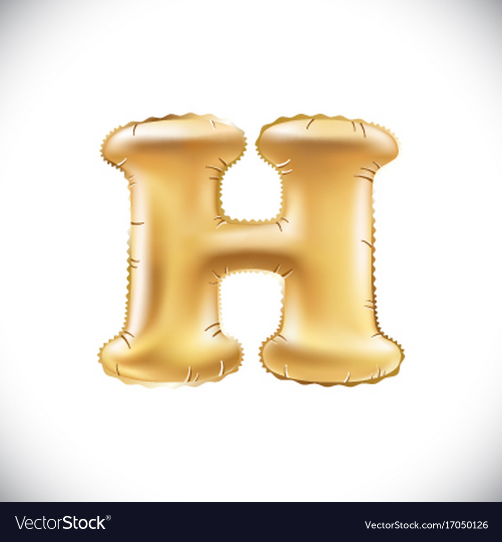 Gold balloon font part of full set upper case