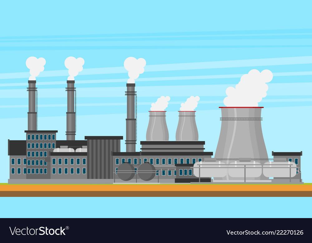 Modern industrial flat buildings set