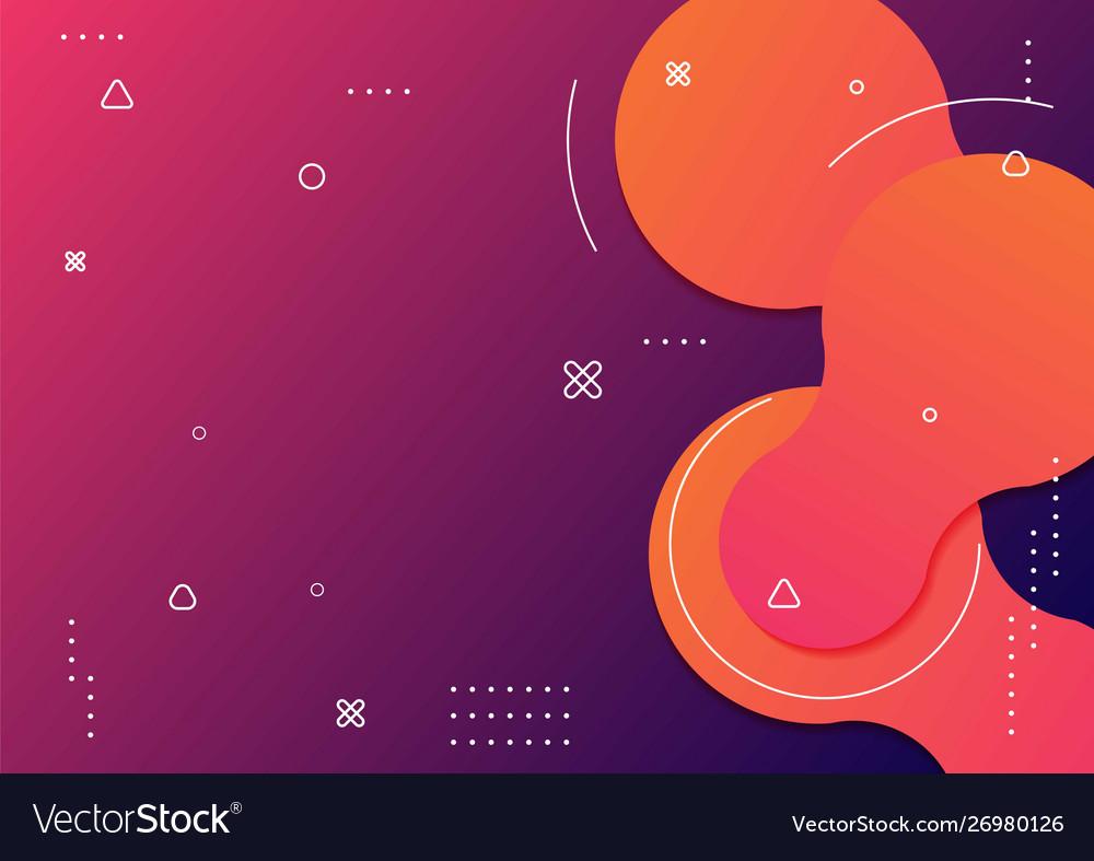 Wavy geometric with fluid design background