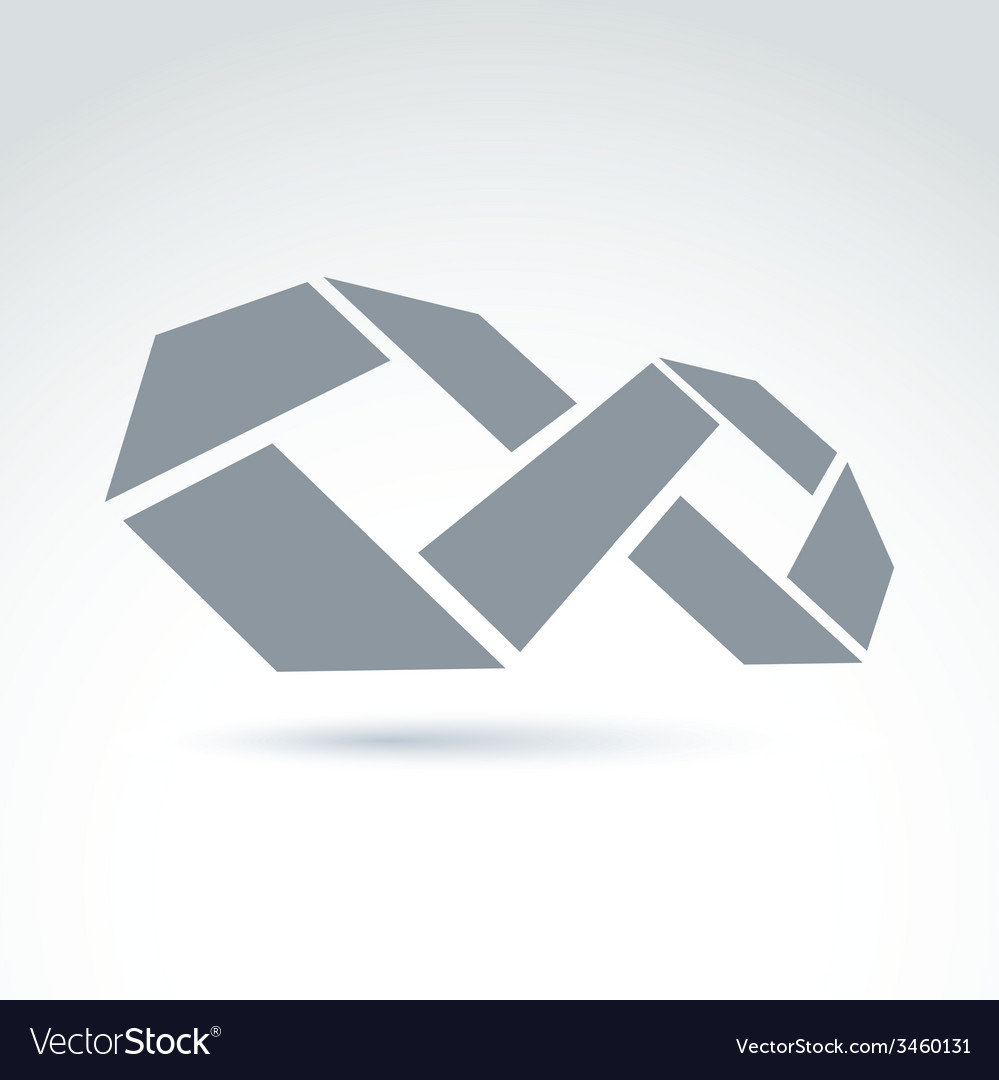3d White Infinity Symbol With Geometric Parts Of A