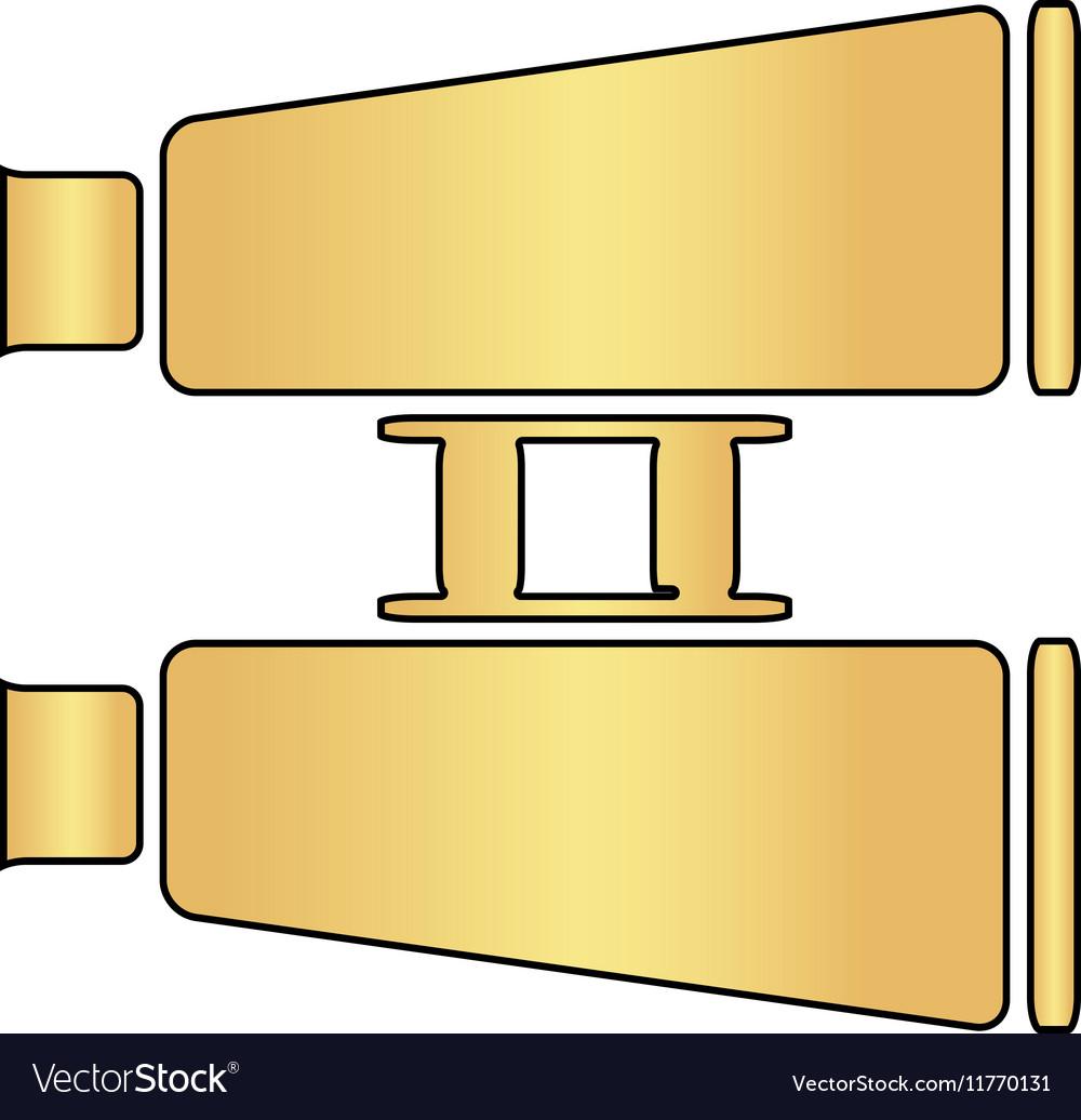 Binoculars computer symbol vector image
