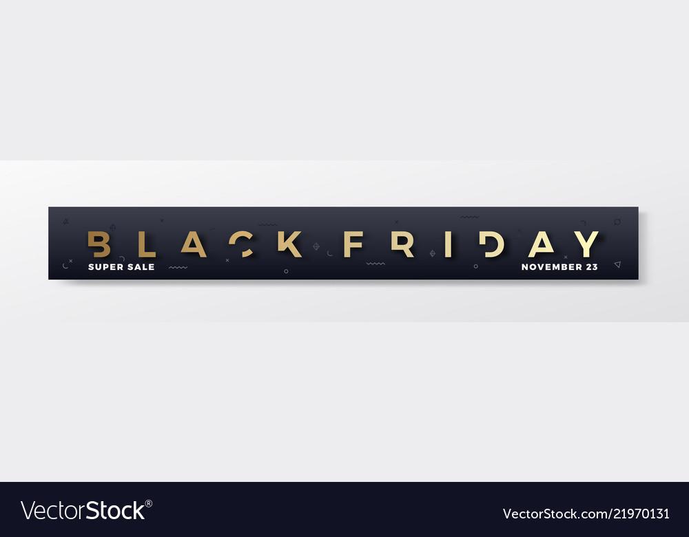 Black friday stylish premium banner or header