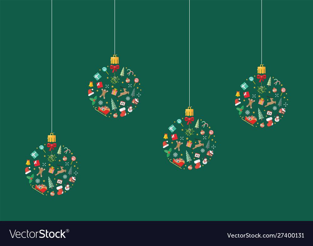 Christmas balls made decoration elements