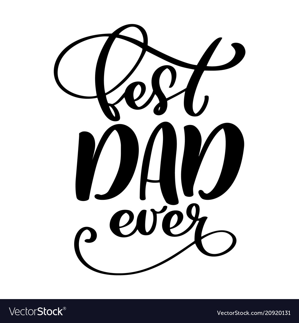 Isolated happy fathers day quotes on the white