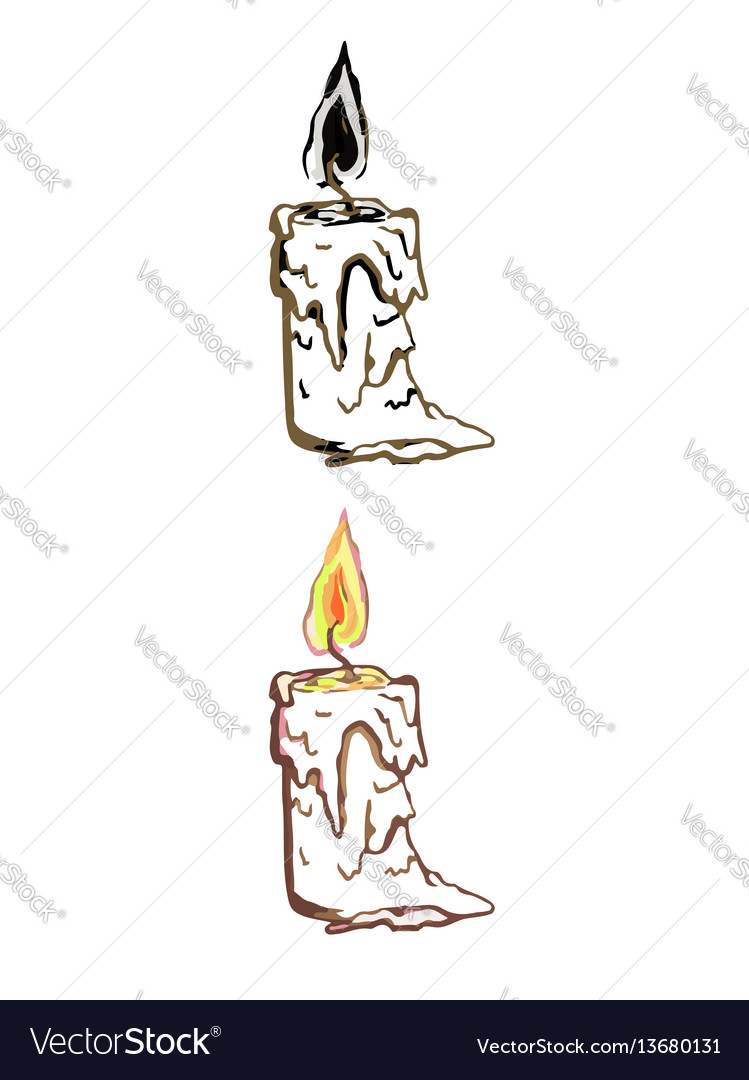 Simple linear of candle