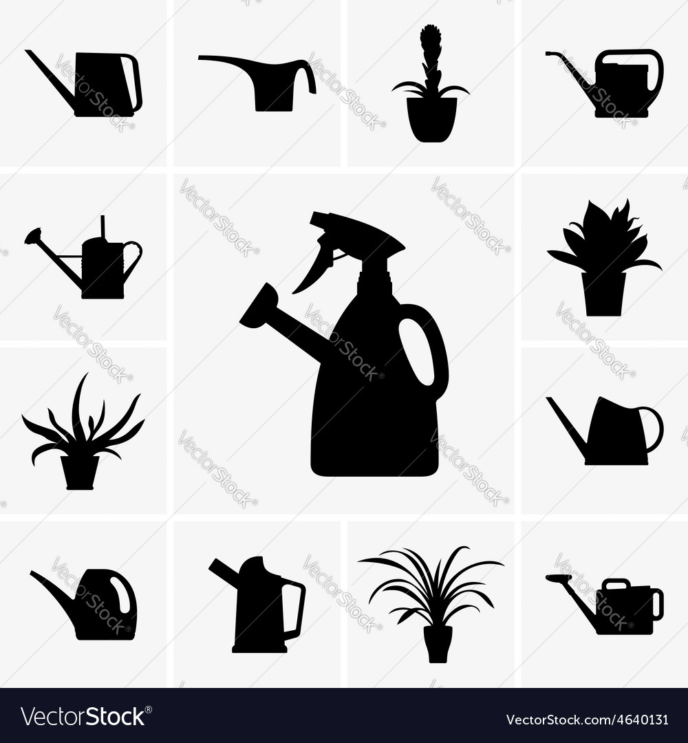 Watering cans vector