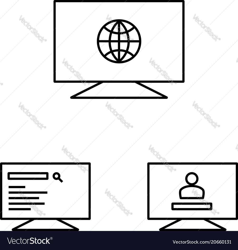 Web operations on the monitors icon