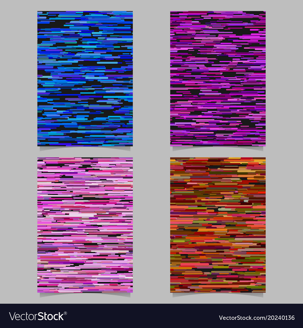 Abstract horizontal stripe design background vector image