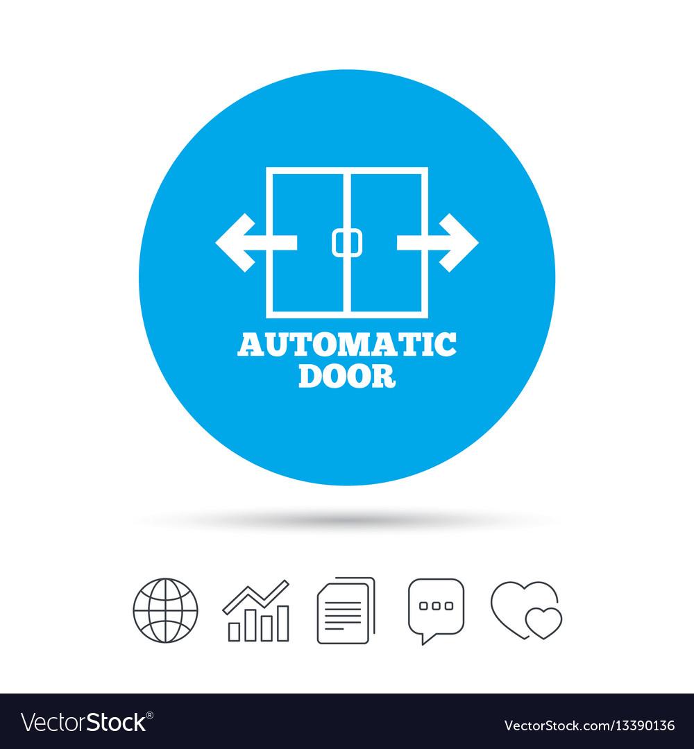 Automatic Door Sign Icon Auto Open Symbol Vector Image