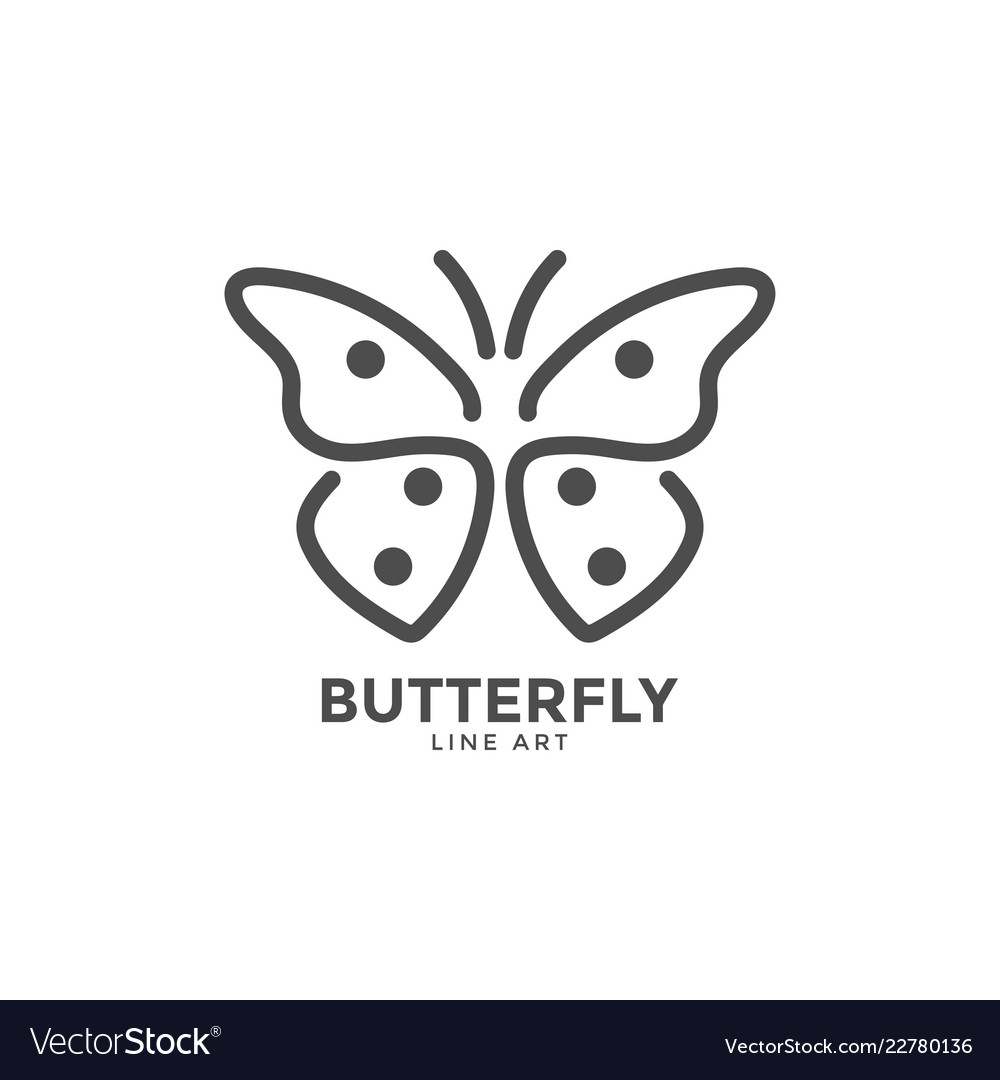 butterfly graphic design template royalty free vector image