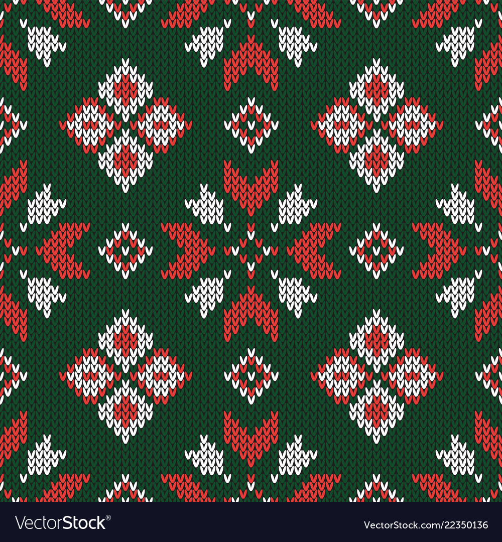 Christmas knitted pattern geometric abstract