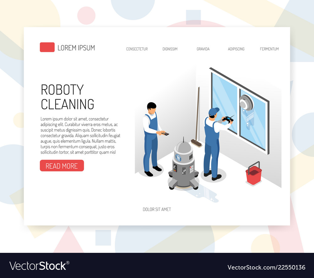 Cleaning service isometric design