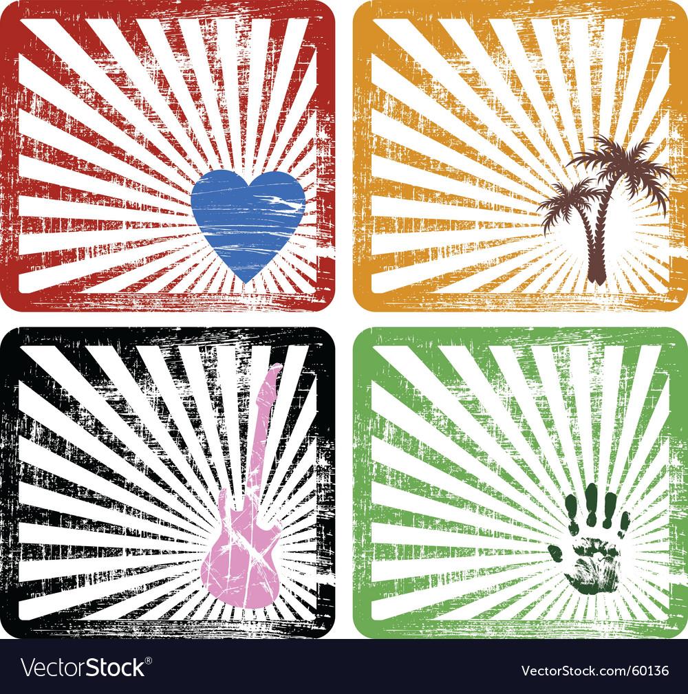 Four frames vector image