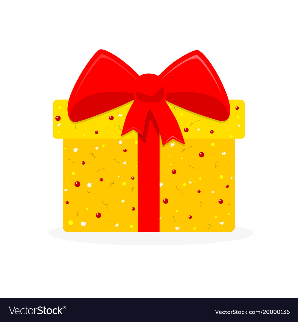 Gift Box Icon Royalty Free Vector Image Vectorstock