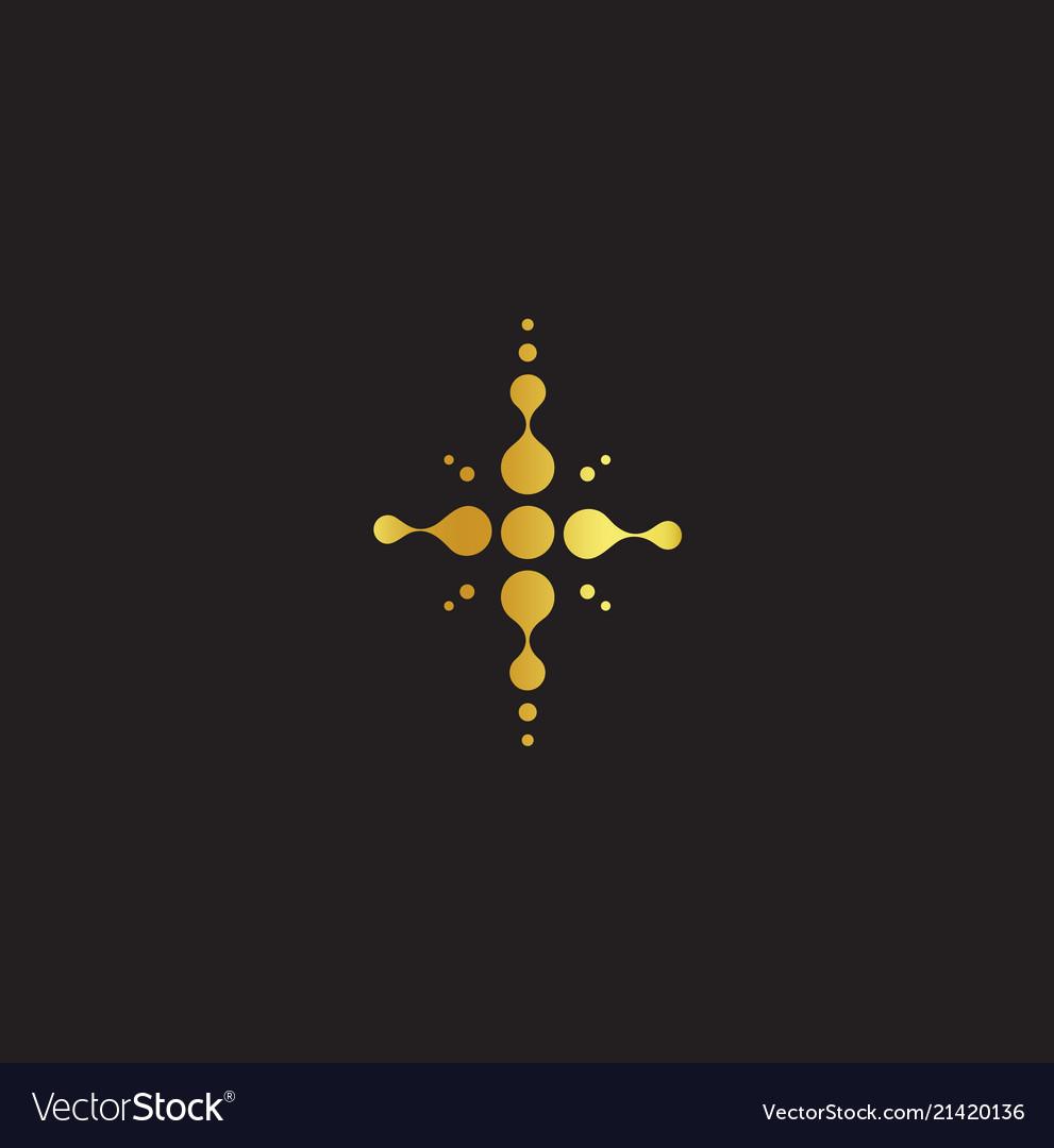 Golden cross christian symbol jesus abstract