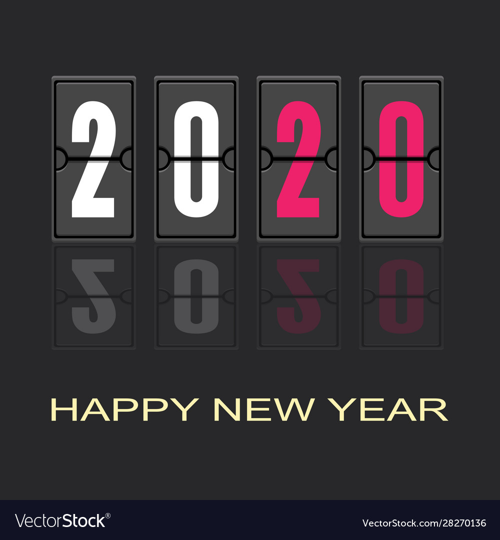 Happy new year 2020 text design