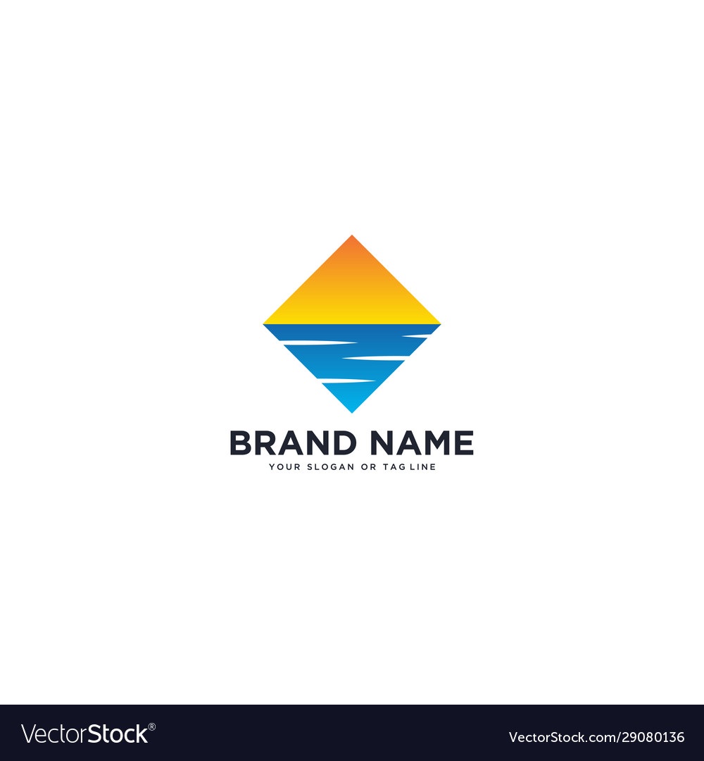 logo design sun and river royalty free vector image logo design sun and river royalty free vector image